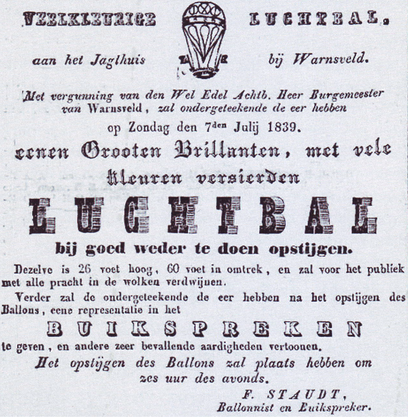 Advertentie Friedrich Staudt