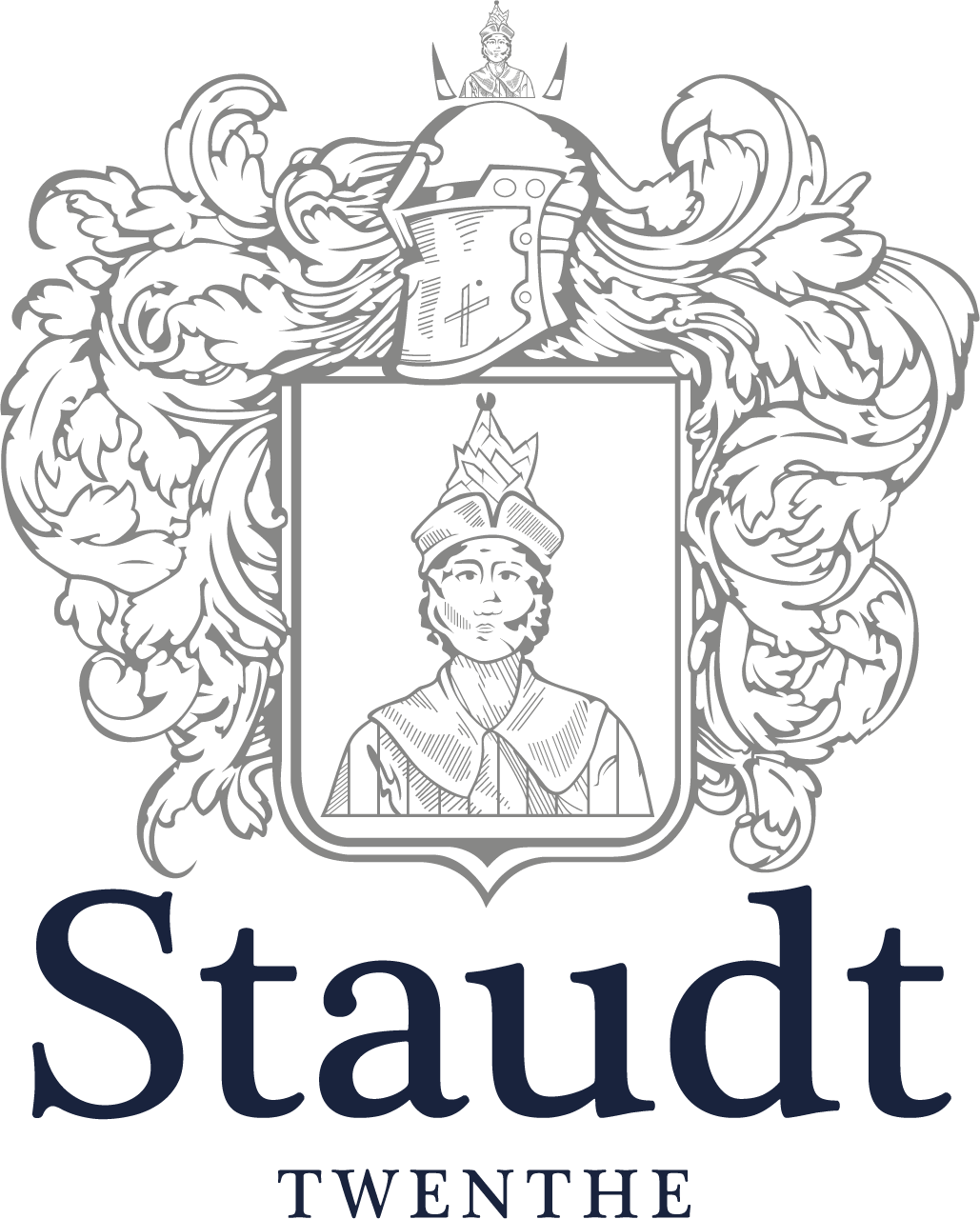 Logo Staudt blue:grey