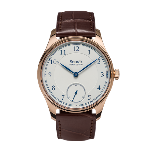 Mechanical hand wound gold ivory watch Staudt