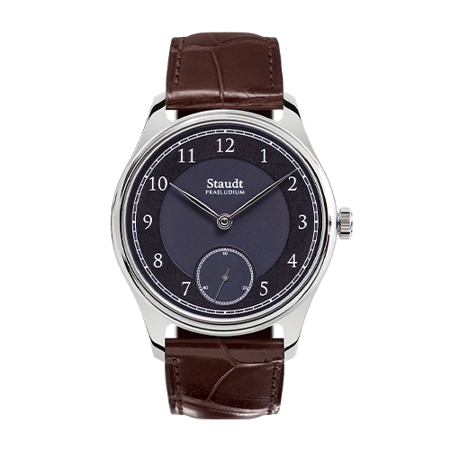 Mechanical hand wound steel watch Staudt