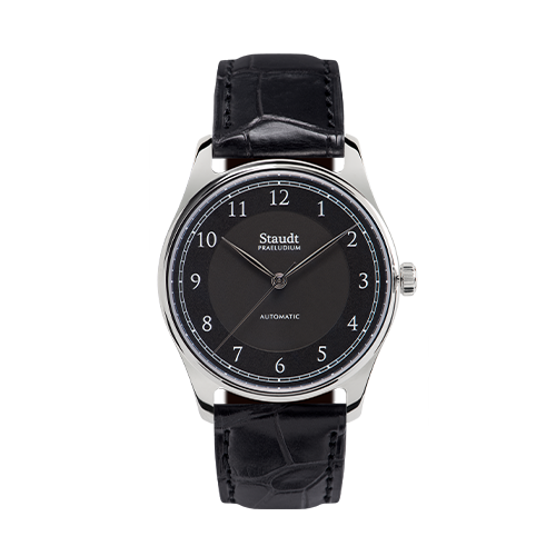 Staudt Petit watch black 37mm automatic mechanical
